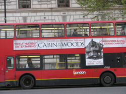 Cabin in the woods london bus