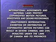 Paramount Communications Canadian Warning Screen