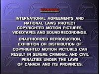 Paramount Communications Canadian Warning Screen