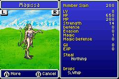 Maggisa stats