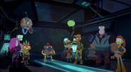 Team Squad on Crimson Light's bridge