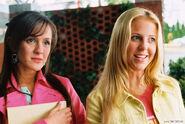 Ashley with Ashlyn at school