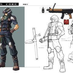 Рисунок пехотинца Шинра из <i>Crisis Core</i>.
