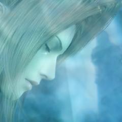Слеза скатывается по щеке Лукреции, когда Винсент выходит из пещеры в <i>Dirge of Cerberus -Final Fantasy VII-</i>.