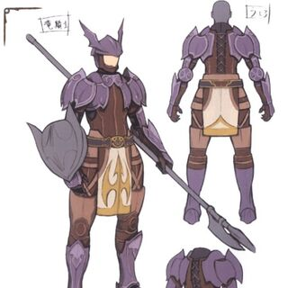 Concept art of a Dragoon.