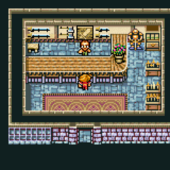 Cornelia's weapon shop (GBA).