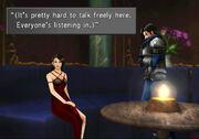 Julia and Laguna talk in FFVIII Remastered