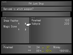 Junk Shop Menu from FFVIII Remastered