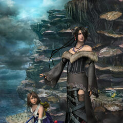 Lulu and Yuna at Mushroom Rock Road in <i>Final Fantasy X</i>.