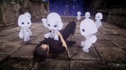 Noctis with Hiso Alien children from FFXV x Terra Wars collab