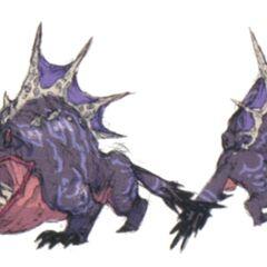 Концепт-арт Behugemoth из <i>Final Fantasy: The 4 Heroes of Light</i>.
