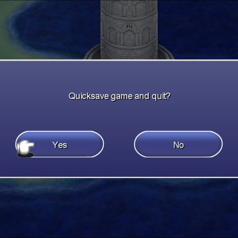 The Quicksave menu in the Steam version.