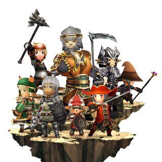Personagens em <i>Final Fantasy Grandmasters</i>.