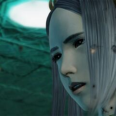 Yeul begs Lightning to save Caius.