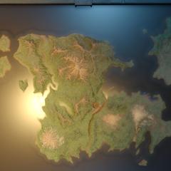 Модель континента в <i>Эпизоде Ардин</i>.