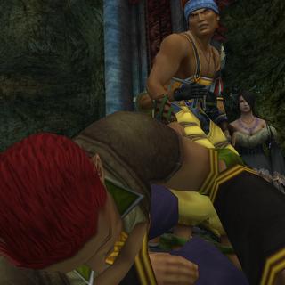 Wakka propina un puñatazo a Luzzu.