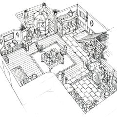 Concept art of Tifa's house.