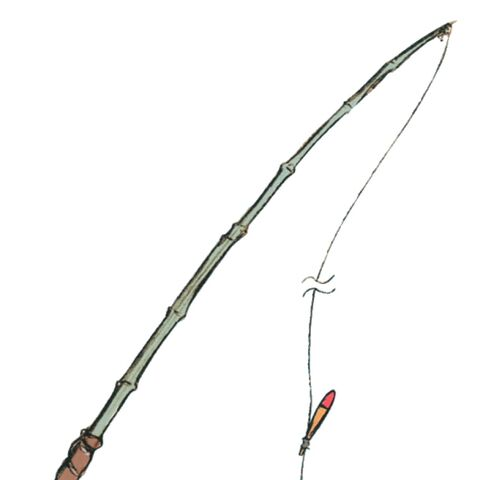 Concept artwork of Quan's fishing rod.