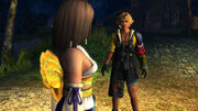 Yuna and tidus in besaid