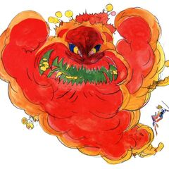 <i>Final Fantasy IV</i> Yoshitaka Amano artwork of the Mom Bomb.