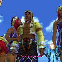 Rin opens the Sphere Break tournament in <i>Final Fantasy X-2</i>.