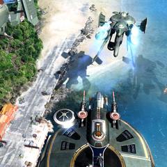 Sanctum Skyfleet flying over Palumpolum.