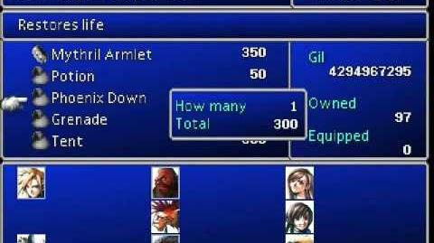 FFVII - Gameshark Goodies - EXP, Gil and Battles Overflow