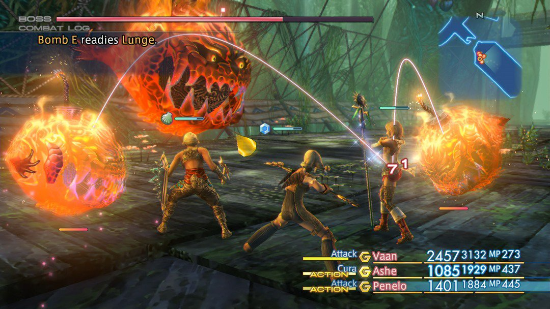 During Battle The HP For Bosses In Final Fantasy XII Is Shown An Overhead Bar And Characters Bottom Right Corner