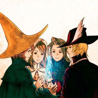 Иллюстрация с персонажами из <i><a href=