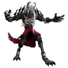 Vincent in his Behemoth-like Galian Beast form in <i>Dirge of Cerberus -Final Fantasy VII-</i>.