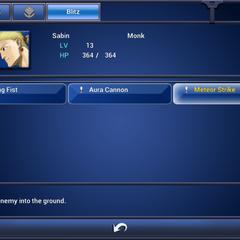 Sabin's Blitz menu (iOS).