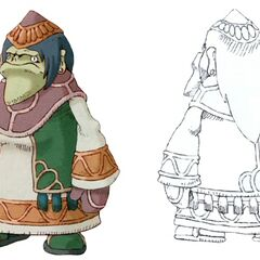 Dwarf female in <i>Final Fantasy IX</i>.