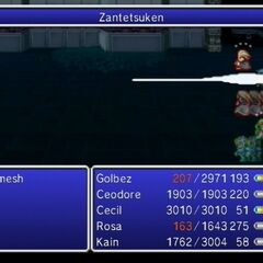 Zantetsuken as an enemy ability in <i><a href=