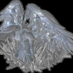 Modelo não usado de Cid Raines em estase cristalina.