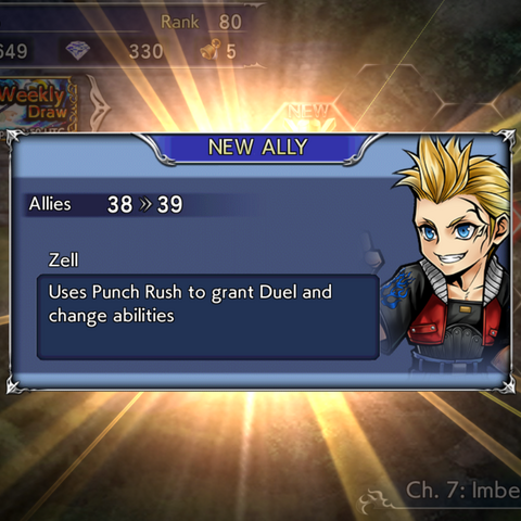 Recruiting Zell's textbox.