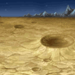 Battle background on the moon's surface (GBA).