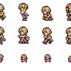 Set of Ashe's sprites.