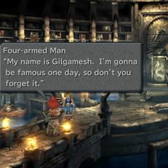 Gilgamesh revela seu nome em <i>Final Fantasy IX</i>.