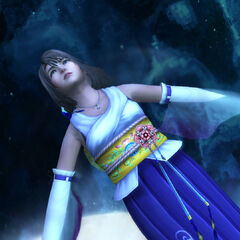 Yuna floats in the <a href=