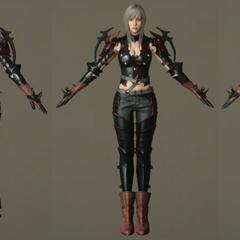 Модели персонажа без шлема.