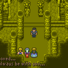 Cyan forgives himself (GBA).