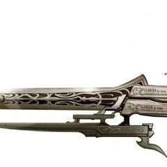 Gunblade artwork from <i>Final Fantasy XIII-2</i>.