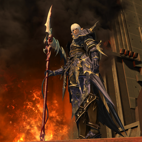 Estinien in <i>Final Fantasy XIV: Stormblood</i>.