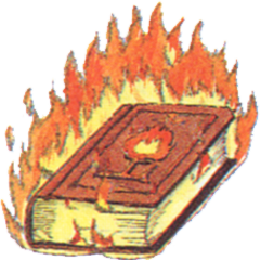 Concept art of Tome of Fire from <i>Final Fantasy III</i>.