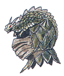 Dragon Helm FFIII Art