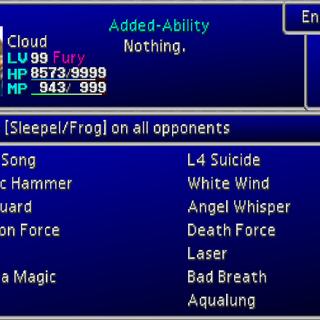 Enemy Skill menu.
