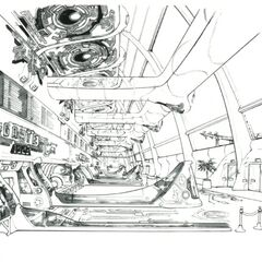Concept of the interior of the facility.