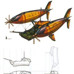 Concept artwork of a Lindblum freighter airship.