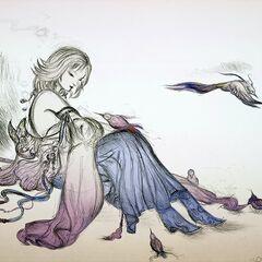 Arte conceitual de Yuna feita por <a href=