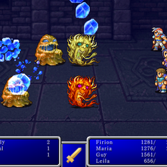 Blizzard VI cast on all enemies in <i>Final Fantasy II</i> (iPod).
